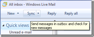 英語版の Windows Live Mail
