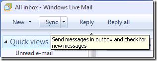 英語版の Windows Live Mail