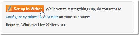 Windows Live Writer をセットアップできるらしい項目