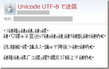 Unicode UTF-8 のメールを 日本語JIS で表示させるとわけのわからない漢字の羅列になる