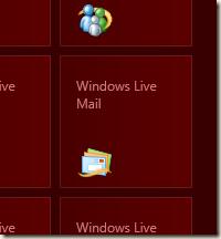 Windows Live メール のタイル