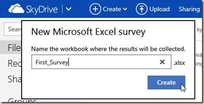 New Microsoft Excel Survey