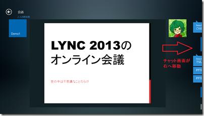 Lync アプリでの会議画面