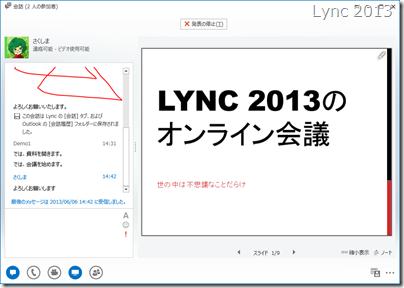 Lync 2013 での会議