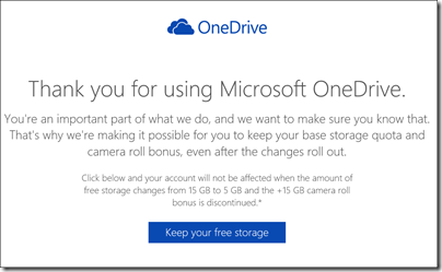 Thank you for using Microsoft OneDrive