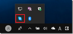 通知領域の「Skype」アイコン